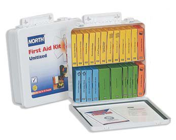 North Unitized First Aid Kit, Metal, 10-unit