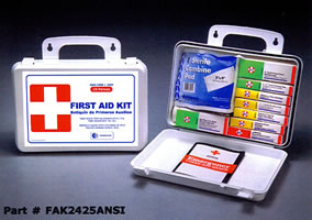 25 Person ANSI Plastic First Aid Kit