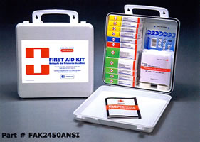 50 Person ANSI Plastic First Aid Kit